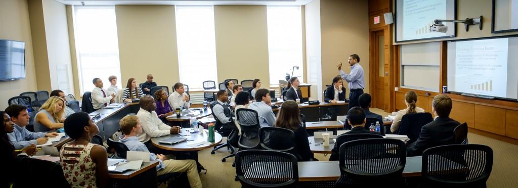 WFU School of Business classroom